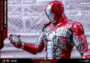 Фигурка Железный человек, доспехи номер V Hot Toys Марвел фотография-22.jpg