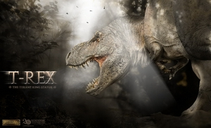 Статуэтка T-rex: Король тиранов Sideshow Collectibles Dinosauria фотография-001.jpg