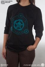 Одежда Футболка с надписью «Unsigned Black Raglan» Sideshow Collectibles суд мертвецов фотография-01.jpg