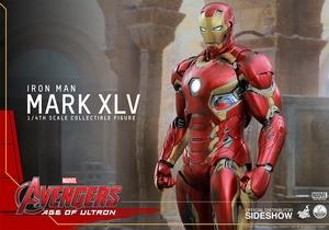 Фигурки в масштабе 1:4 Железный человек Марк XLV Hot Toys Марвел фотография-13.jpg