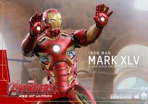 Фигурки в масштабе 1:4 Железный человек Марк XLV Hot Toys Марвел фотография-14.jpg