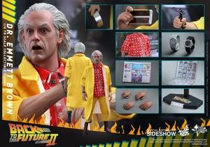 Фигурка Доктор Эммет Браун Hot Toys Назад в будущее фотография-08.jpg