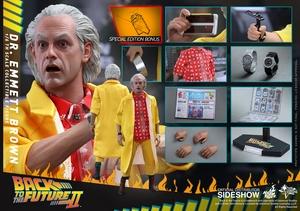 Фигурка Доктор Эммет Браун Hot Toys Назад в будущее фотография-01.jpg