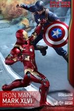 Фигурка Железный человек доспехи костюм номер XLVI Hot Toys Марвел фотография-04.jpg