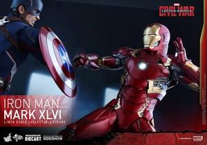Фигурка Железный человек доспехи костюм номер XLVI Hot Toys Марвел фотография-05.jpg