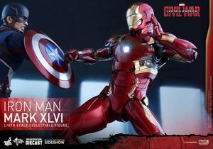 Фигурка Железный человек доспехи костюм номер XLVI Hot Toys Марвел фотография-06.jpg