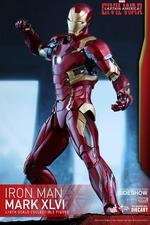Фигурка Железный человек доспехи костюм номер XLVI Hot Toys Марвел фотография-07.jpg