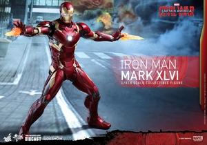 Фигурка Железный человек доспехи костюм номер XLVI Hot Toys Марвел фотография-10.jpg