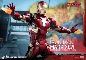 Фигурка Железный человек доспехи костюм номер XLVI Hot Toys Марвел фотография-11.jpg