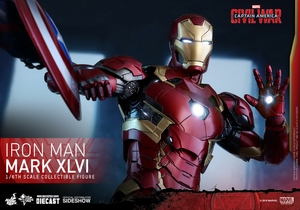 Фигурка Железный человек доспехи костюм номер XLVI Hot Toys Марвел фотография-13.jpg