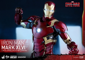 Фигурка Железный человек доспехи костюм номер XLVI Hot Toys Марвел фотография-14.jpg