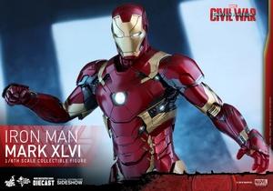 Фигурка Железный человек доспехи костюм номер XLVI Hot Toys Марвел фотография-15.jpg