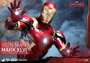 Фигурка Железный человек доспехи костюм номер XLVI Hot Toys Марвел фотография-16.jpg