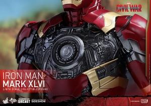 Фигурка Железный человек доспехи костюм номер XLVI Hot Toys Марвел фотография-19.jpg