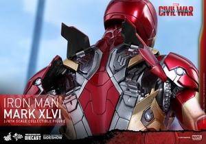 Фигурка Железный человек доспехи костюм номер XLVI Hot Toys Марвел фотография-20.jpg