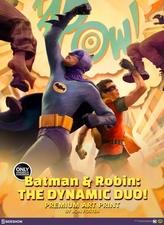 Художественная компьютерная печать Бэтмен Робин Динамический дуэт Sideshow Collectibles ДС комикс фотография-01.jpg
