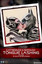 Художественная печать Бэтмен-кошка Sideshow Collectibles ДС комикс фотография-01.jpg
