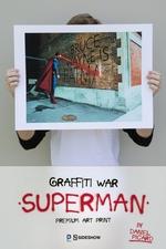 Художественная компьютерная печать Граффити войны Супермен Sideshow Collectibles ДС комикс фотография-01.jpg