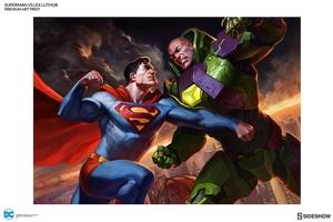 Художественная компьютерная печать Супермен против Лекса Лютора Sideshow Collectibles ДС комикс фотография-02.jpg