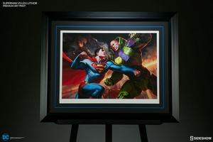 Художественная компьютерная печать Супермен против Лекса Лютора Sideshow Collectibles ДС комикс фотография-03.jpg