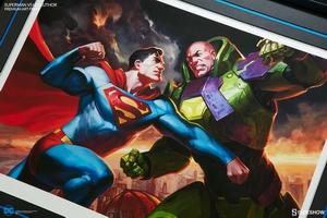 Художественная компьютерная печать Супермен против Лекса Лютора Sideshow Collectibles ДС комикс фотография-06.jpg