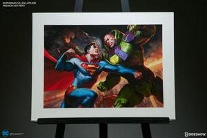 Художественная компьютерная печать Супермен против Лекса Лютора Sideshow Collectibles ДС комикс фотография-07.jpg