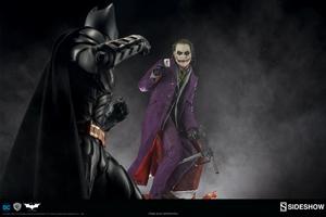 Коллекционная фигурка Джокер Темный рыцарь Sideshow Collectibles ДС комикс фотография-14.jpg