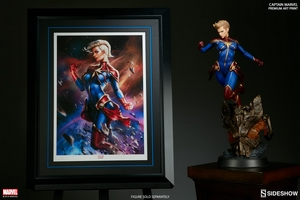 Художественная компьютерная печать Капитан Марвел Sideshow Collectibles Марвел фотография-02.jpg