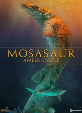 Статуэтка Мосасаур Амбер Sideshow Collectibles Dinosauria фотография-01.jpg